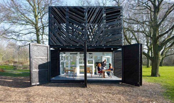 Eco bar in North Amsterdam - noorderparkbar using salvaged materials #upcycling #recycling