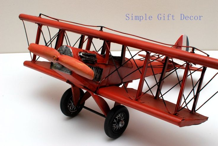 Metal WW1 Vintage Aircraft Airplane model Red