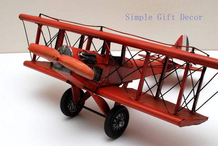Metal WW1 Vintage Aircraft Airplane model Red