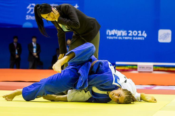 Maruša Štangar, bronasta medalja v judu, mladinske olimpijske igre v Nandžingu
