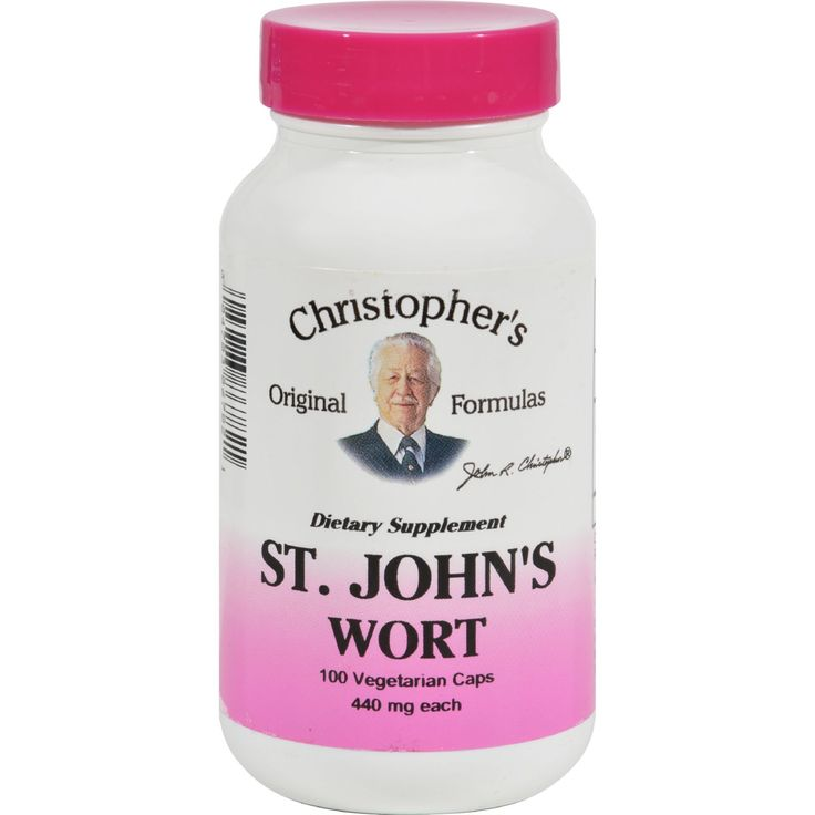 Dr. Christophers Formulas St. Johns Wort - 100 Vcaps - Also available in Extract form.Warning: If you are using a prescription antidepressant consult with your health care professional before using this product.No added Fillers or Chemicals. European clinical research has confirmed the effectiveness of St. Johns Wort in the treatment of depression. They have been using it not only for depression but also for the treatment of the following: wounds burns injured nerves sciatica ulcers anxiety…