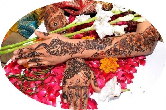 Latest Mehandi Designs For Bridal