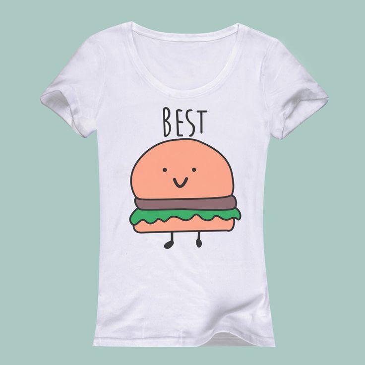 femme camiseta de la moda de la camisa salvaje lindo mejores amigos del verano 2016 imprimen Camisas feminina mujer tumblr femme vetement tops camiseta de las mujeres
