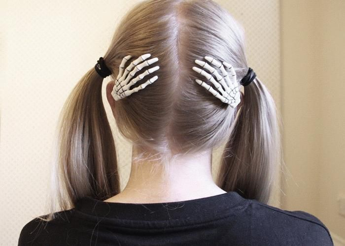 Mini Bone Hair Slides White By Spektrum