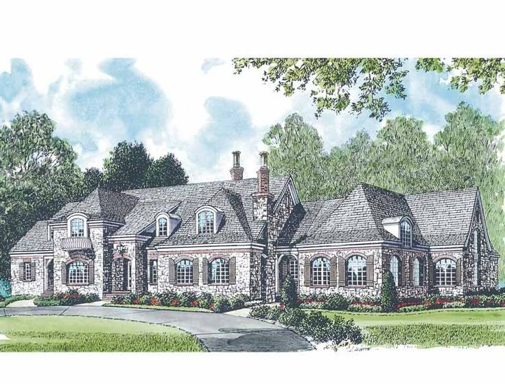 Chateau house plan with 9611 square feet and 5 bedrooms for French manor house