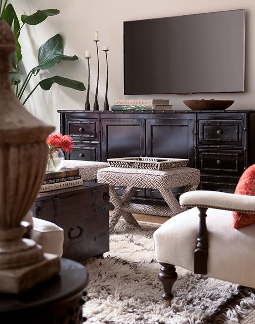 Love this idea! TV off-center from TV stand @Kelly Delaney Farese what do you think??