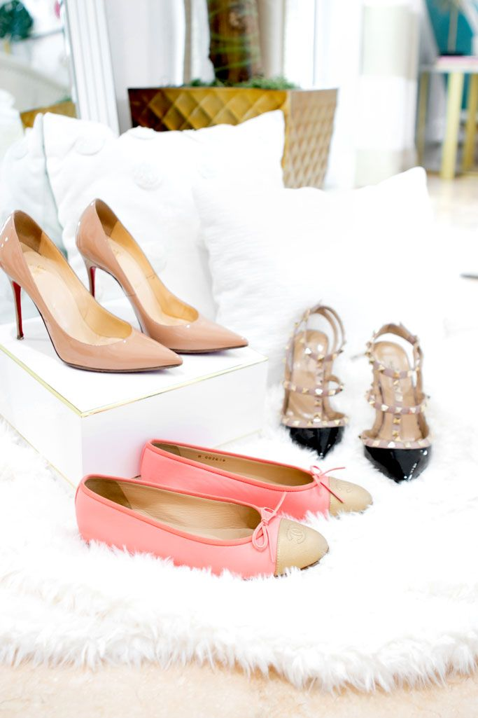 5159a4c3fd Blame it on Mei, Miami Fashion Blogger, Best Timeless Designer Shoes To  Invest In, Valentino Rockstud Heel, Chanel Espadrilles, Chanel Ballerinas,  ...