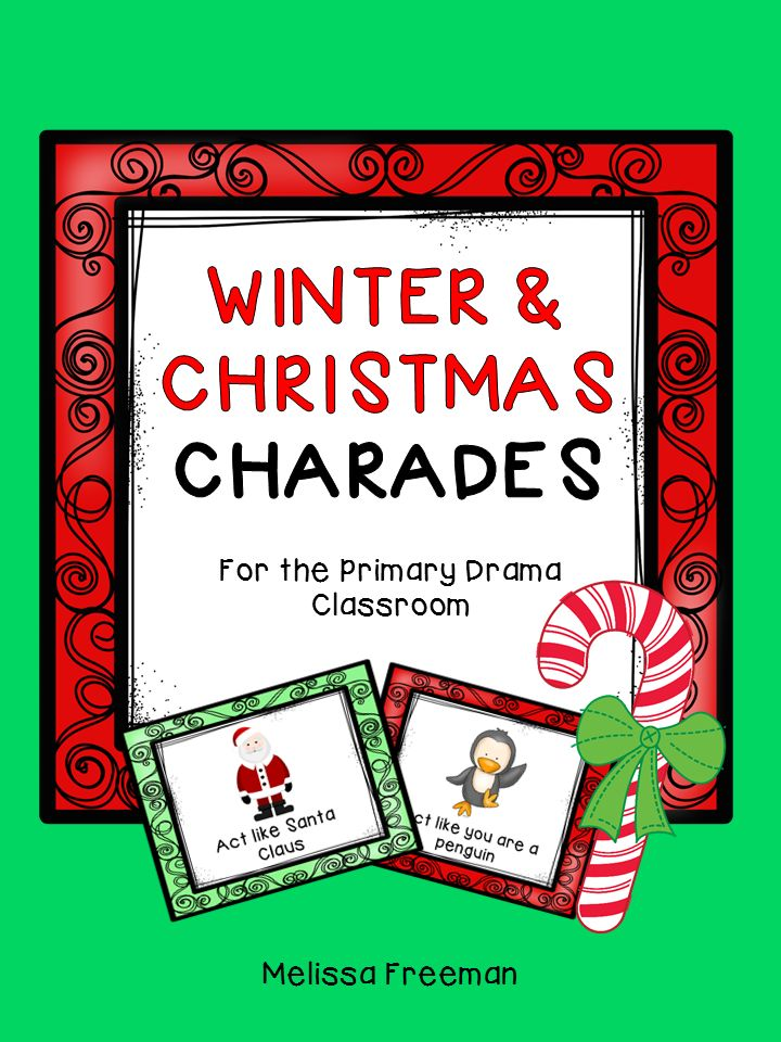 FREE! 10 winter/Christmas themed charades cards!