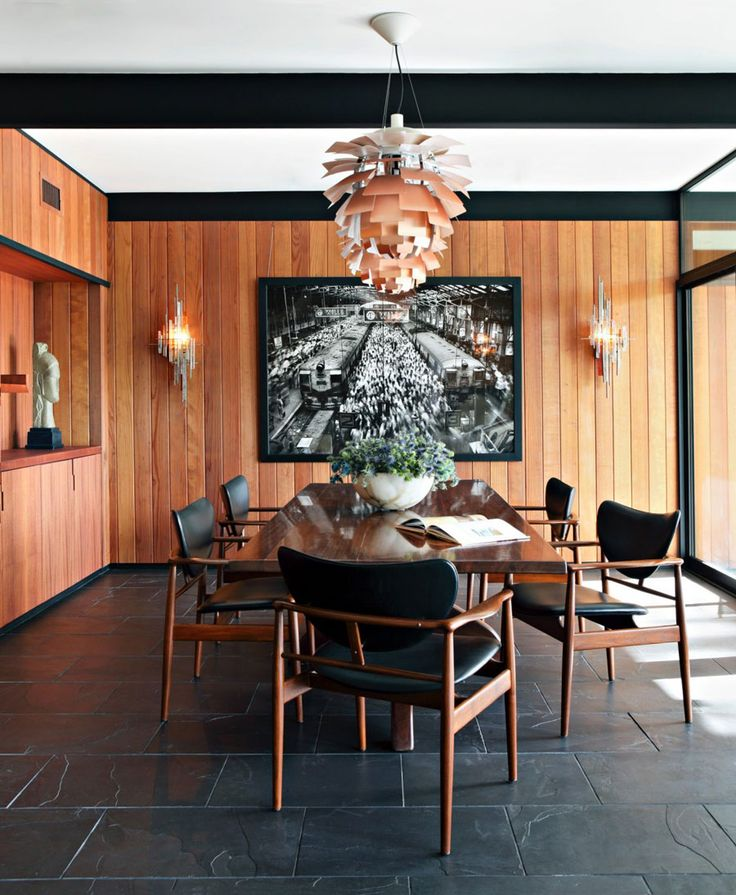 MId Century House In La Canada Has Beautiful Redwood Panelling