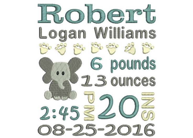 23 best Baby Announcement Embroidery Design images on Pinterest