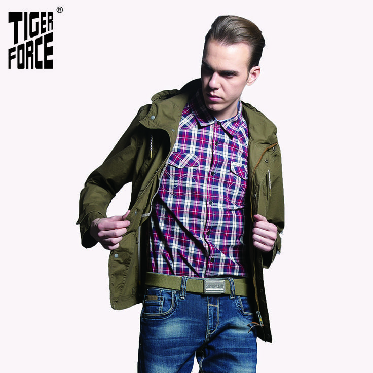 Find More Trench Information about TIGER FORCE 2016 New Collection Men Trench Coat Casual Jacket Washed Cotton Fabric With Hood Solid Zipper Free Shipping 31315A,High Quality cotton underware,China zipper supplies Suppliers, Cheap zipper pendant from TIGER FORCE on Aliexpress.com