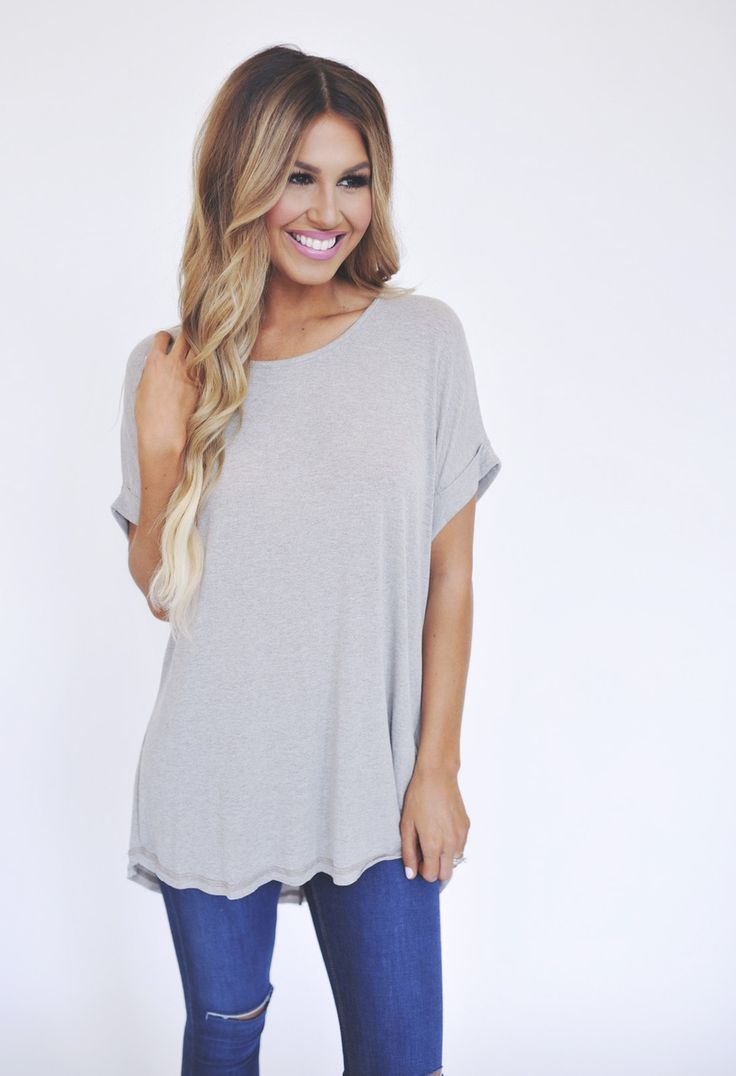 Soft Cuffed Sleeve Tunic- Taupe - Dottie Couture Boutique