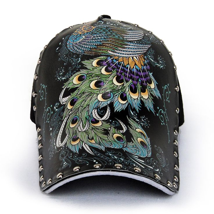 personalized baseball caps embroidered rivet cap buy quality printed china men suppliers unique design unisex spring summer peacock print cheap basebal