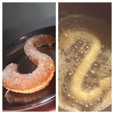 Oppskrift : 1 dl vann 60 gram smør Litt salt 2 egg pofiber ( blander inn litt og litt til de...