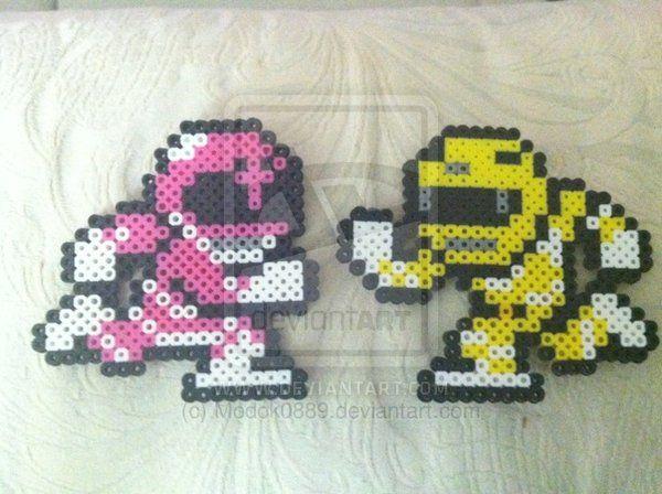 Pink and Yellow Ranger by Modok0889.deviantart.com on @deviantART