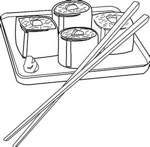 Cute Sushi Coloring Pages sketch template | Japonia