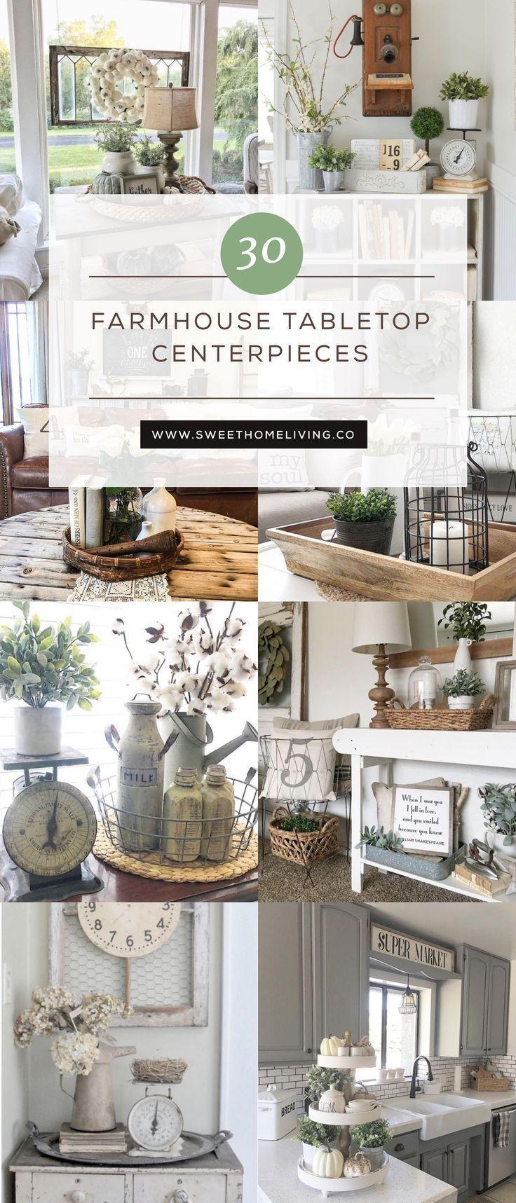 30 Farmhouse Tabletop Arrangement Centerpieces Farmhouse Tabletop Farmhouse Centerpiece Home Decor