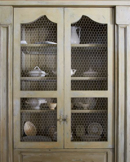 Chicken Wire Kitchen Cabinet Doors: 157 Best Images About Glass Cabinets On Pinterest