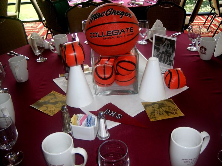basketball centerpiece | Athletic banquet | Pinterest ...