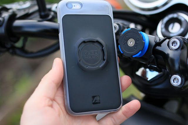 Gear Review - Quadlock Smartphone Bike Kit ~ Return of the Cafe Racers