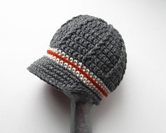 Crochet baby hat baby boy newsboy hat toddler boy by ktandthesquid, $25.00