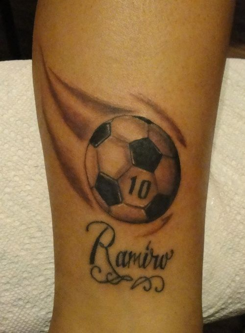 Soccer cross tattoos