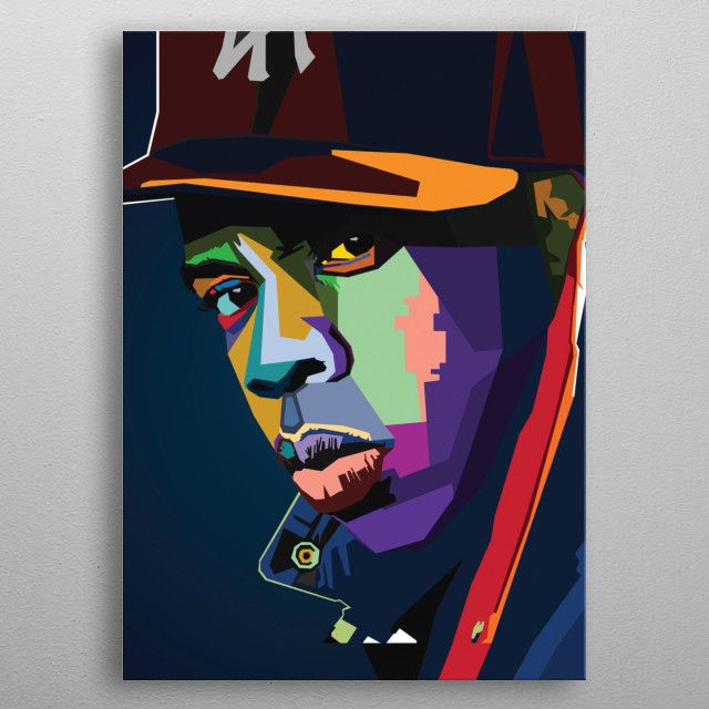 Jay Z Wpap Popart Metal Poster Nguyen Dinh Long Displate In 2020 Posters Art Prints Wpap Art Etsy Wall Art