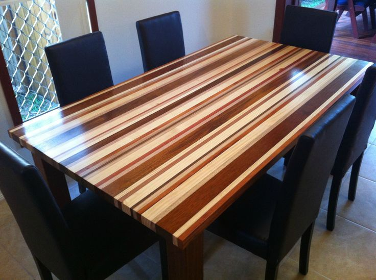 OMG I love this table! Made with Merbau, Pine, Mahogany, Spotted Gum, and Tasmanian Oak.