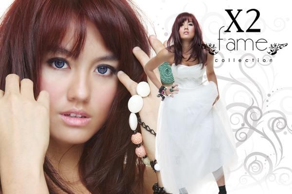 Softlens X2 FAME ini tersedia dengan motif warna yang terang dan cantik (Free Lencase).  Keterangan :  Diameter : 14.50 mm,  Kadar air : 42%,  Masa pakai : 6 bulan,  Technology : full cast system,  Material : POLYHEMA 58%,   Base Curve : 8,60 mm,  Warna : green, violet, hazel, grey, blue,   Ready : Nomal s/d -6.00 (lebih PO).   MADE IN KOREA