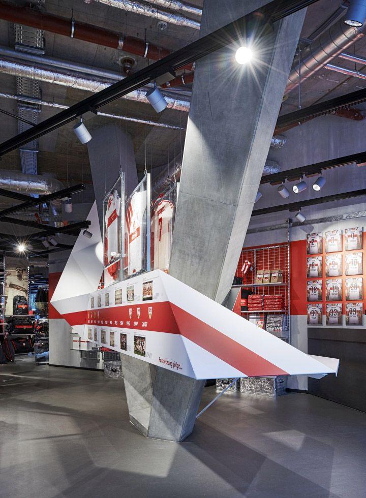 VfB Stuttgart Fan-Center Store by Blocher Blocher, Stuttgart – Germany » Retail…