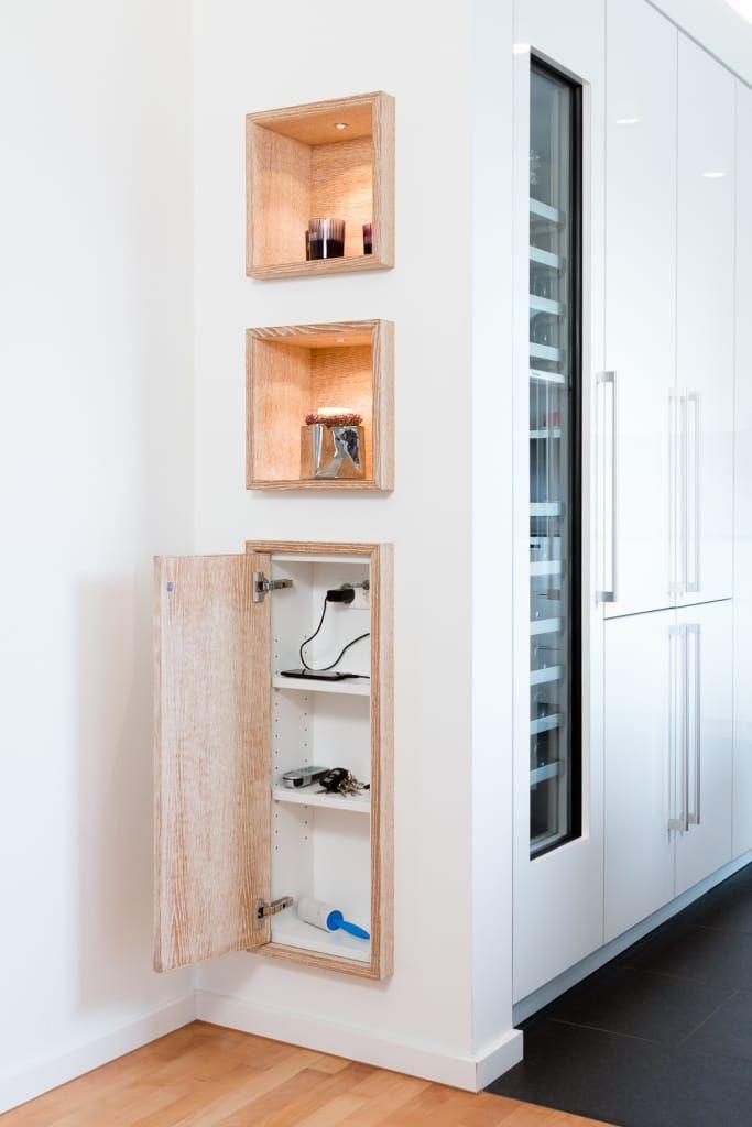 Einschubschränke in trockenbauwand: küche von klocke möbelwerkstätte gmbh