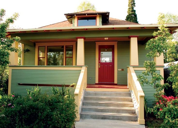 How To Design A Bungalow Porch Front Doors Paint Colors