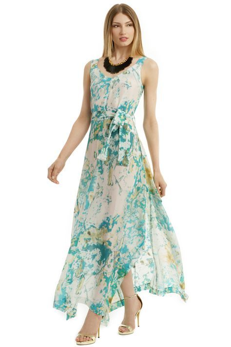 Tropical Wedding Beach Maxi Dress
