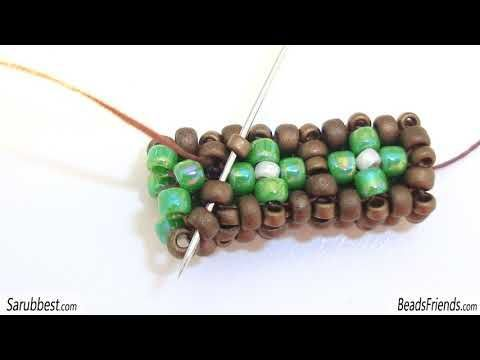 CRAW Tutorial perline - Cubic RAW a 2 file tutorial - Cubic Right Angle Weave tecnica perline - YouTube