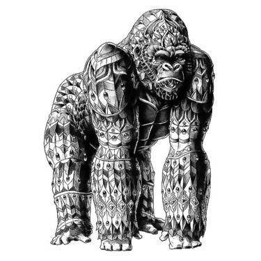 Crawling Tribal Panter Tattoo Design