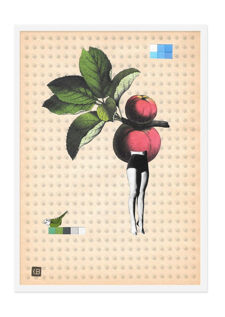 Eva by Kinga Berkowska; collage papercuting