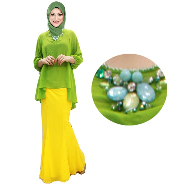 Baju Kurung by In Her Store Indonesia – Malala Series Material : Chiffon Cerutti Free Size Fit to XL Price : 350rb PIN : 56EC4B97 Line : go2dika Foto Inherstore ID.