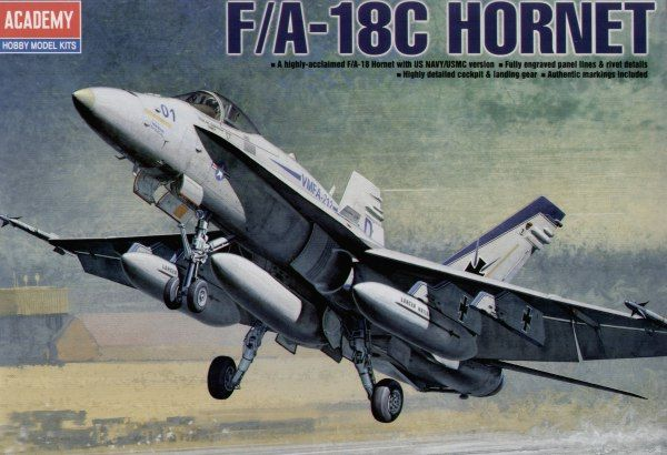 McDonnell Douglas F/A-18C Hornet. Academy, 1/72, injection, No.12411. Price: 17,09 GBP.