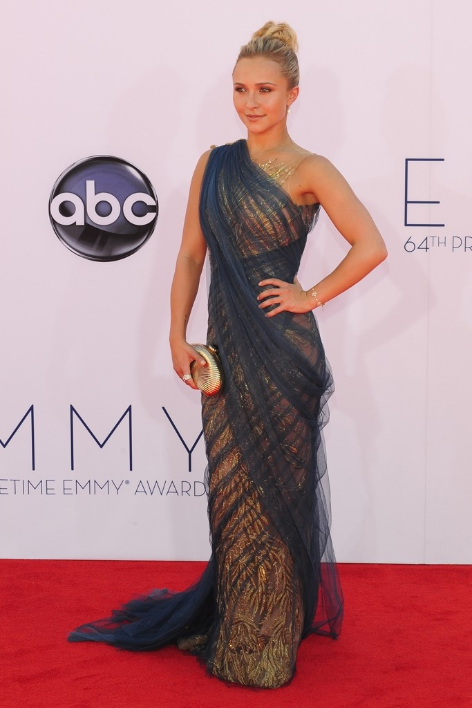 Hayden Panettiere in Marchesa at the Emmy Awards.