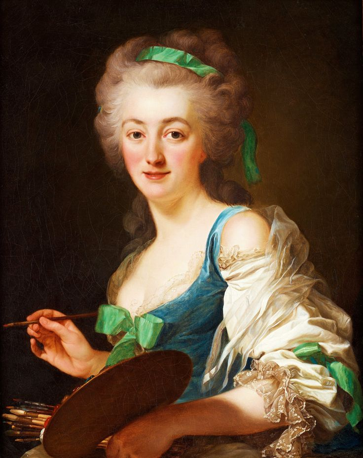 ALEXANDER ROSLIN. La artista Anne Vallayer-Coster. 1783.