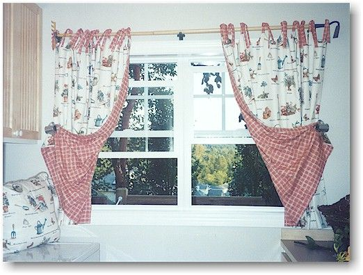 70 best images about french country window treatments on for Country laundry room curtains