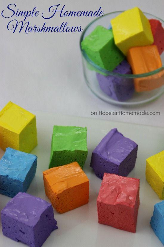 Simple Homemade Marshmallows   Recipe on HoosierHomemade.com