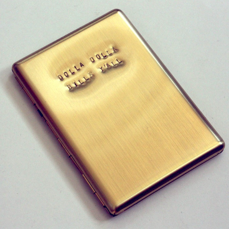 """Dolla Dolla Bills Y'all"" brass wallet gunsgermssteal.myshopify.com"