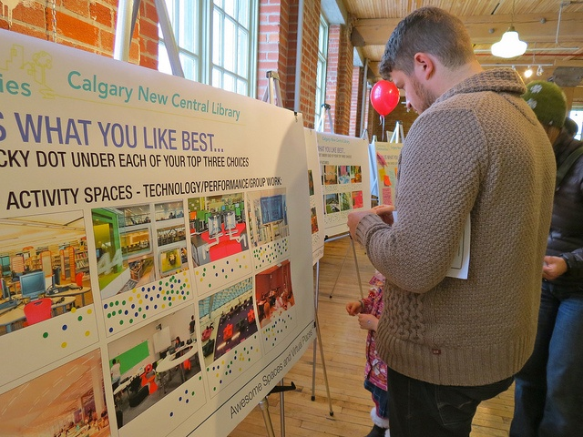 Voting on activity spaces at East Village public engagement event in #yyc