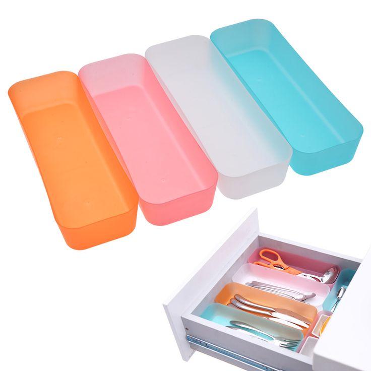 3 Formati Cassetto Regolabile Dell'organizzatore di Trucco Storage Box Gioielli Divisore Per Il FAI DA TE Strumenti Casa Cucina Trasparente Nuovo Arrivo
