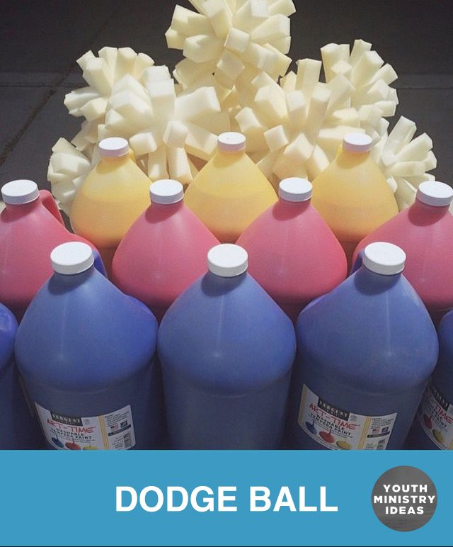 Paint Dodge Ball. Youth Ministry Ideas and Games.                                                                                                                                                                                 More