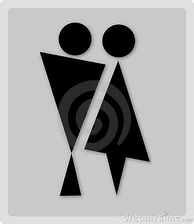 Bathroom Signs Circle And Triangle 140 best restroom signs images on pinterest | restroom signs