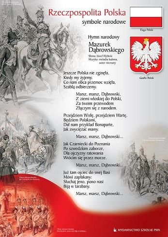 """Autorem obecnego hymnu Polski był Józef Wybicki. """"Pieśń Legionów Polskich we Włoszech"""" powstała w 1797 r. w tamtejszym Reggio nell'Emilia. Po raz pierwszy wykonano ją publicznie w lipcu 1797 r. podczas parady wojskowej. Nie przypuszczano wówczas, że stanie się ona polskim hymnem narodowym. Po raz pierwszy tę oficjalną rangę utworowi Wybickiego nadały w 1830 r. władze powstania listopadowego."""