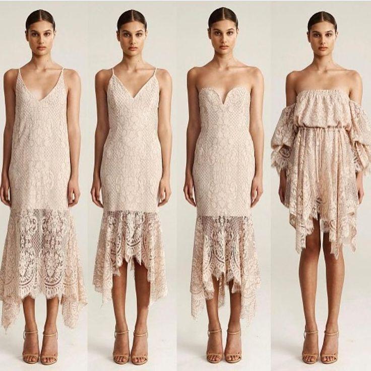 "Bridesmaids Only on Instagram: ""Lacey Love ❤ Shop via link in bio xox #bridesmaidsonly #shonajoy #lace #champagne #bridesmaid #bridesmaids #wedding #missmatch"""