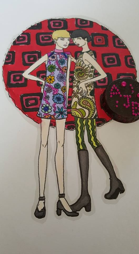 Colored Page From Fashion Forward 1960s Coloring Book For Adults Amazon By Amanda Review Of At